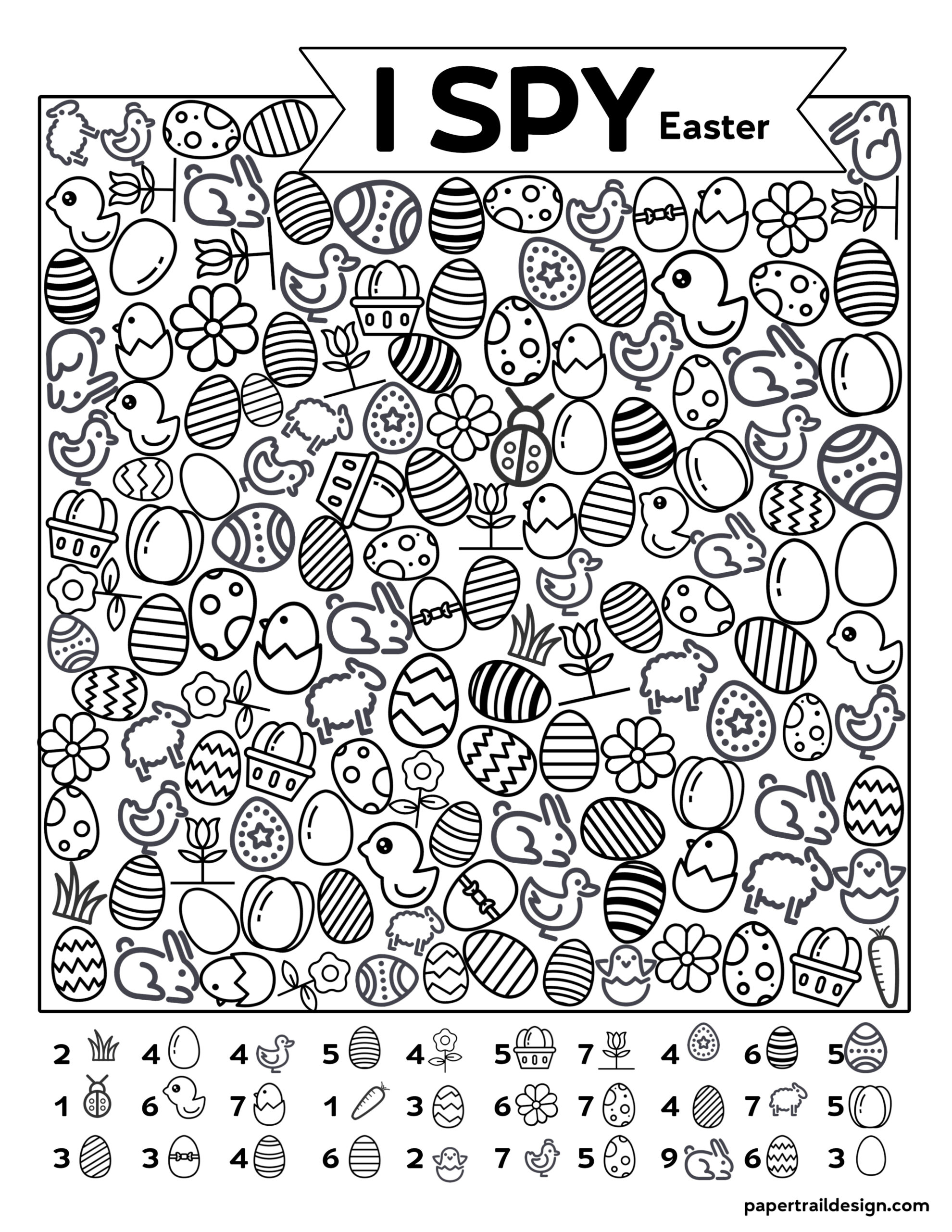 Free Printable I Spy Easter Activity