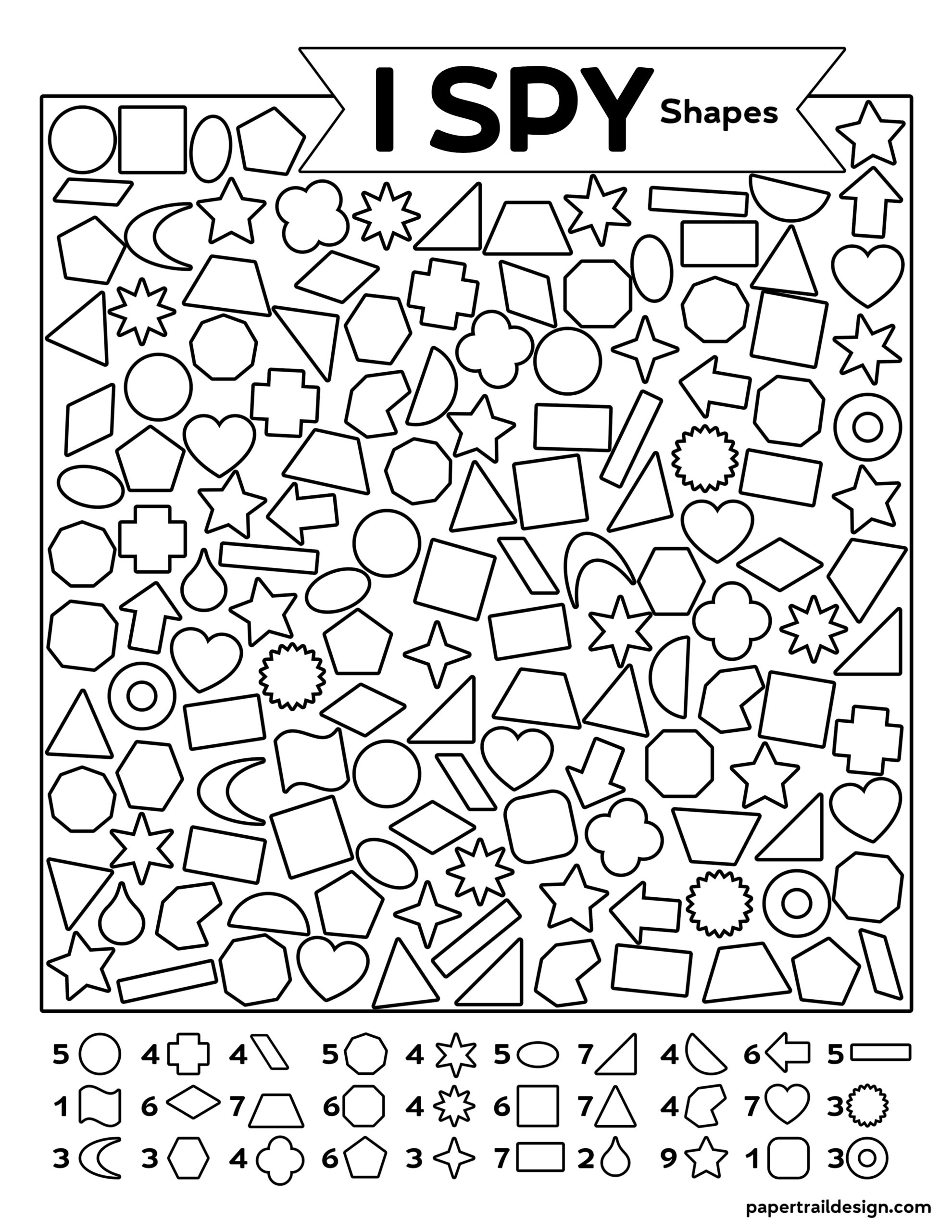 Free Printable I Spy Shapes Activity