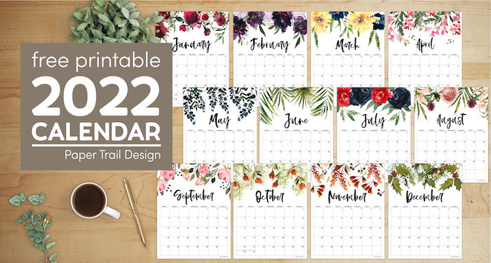 Sure, digital calendars are convenient — we can take them everyw. Calendar 2022 Printable One Page | Paper Trail Design