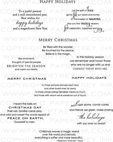 Inside Amp Out Holiday Stamp Set Papertrey Ink Clear