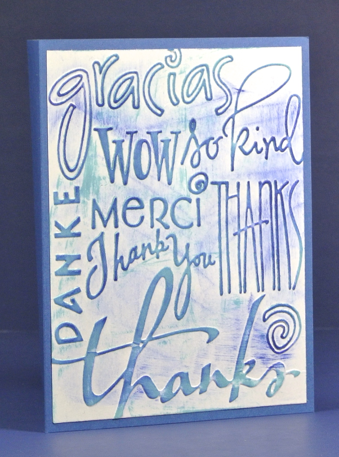 Embossed Thank You Paper Whims