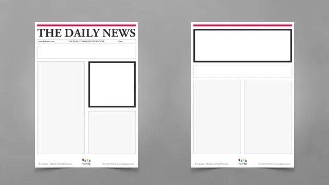 Blank Newspaper Templates   PAPERZIP