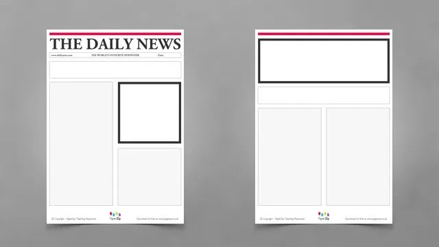 Newspaper article template well classroom freebies and social studies with regard printable