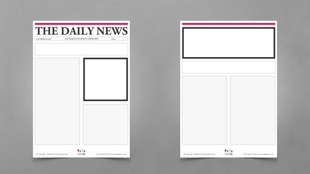 Elegant Blank Newspaper Template For Kids ...