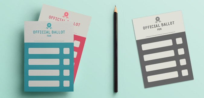 A simple set of voting ballots for children. There are four colours and four different layouts, including 2, 3, 4 and 5 box options.