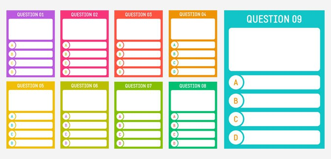 picture regarding Printable Playing Card Template named Quiz Card Templates - PAPERZIP