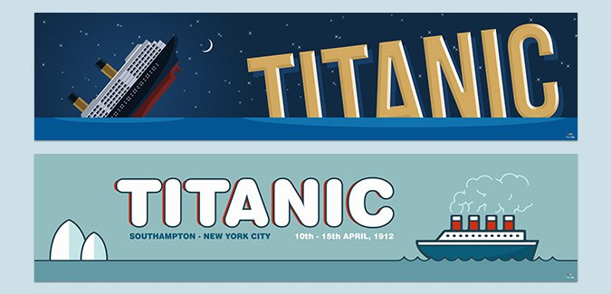 titanic topic classroom poster banner
