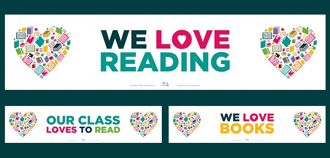 reading banners classroom library school