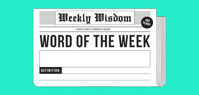 Image result for word of the week poster