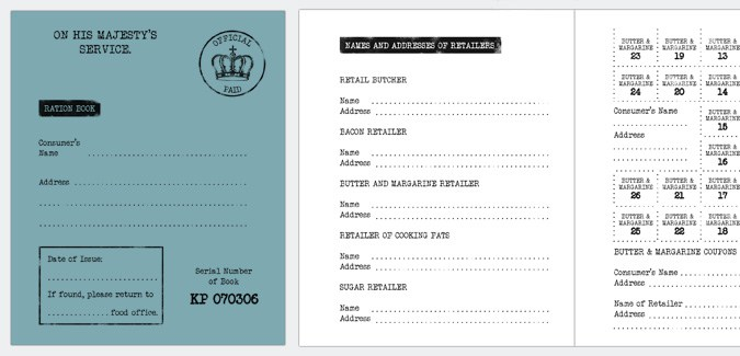 image about Ration Book Ww2 Printable called Worldwide War 2 Ration E book Template - PAPERZIP