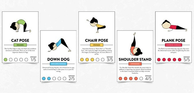 This is a picture of Mesmerizing Yoga Cards Printable