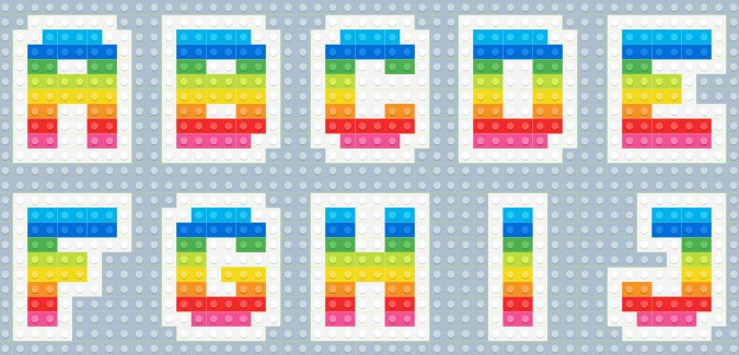 picture about Lego Letters Printable named LEGO Alphabet Vol. 2 - PAPERZIP