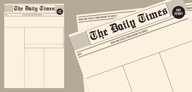 Old Newspaper Template Blank