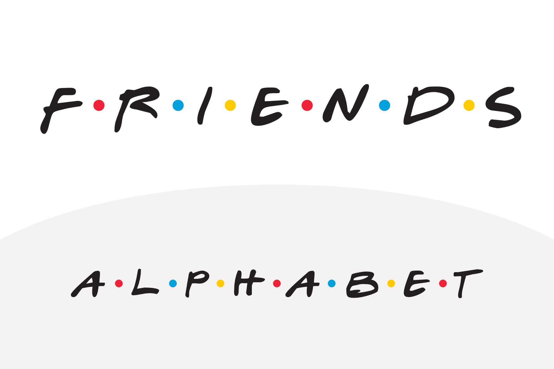photograph about Fonts Printable referred to as Buddies Tv set Clearly show Alphabet - PAPERZIP