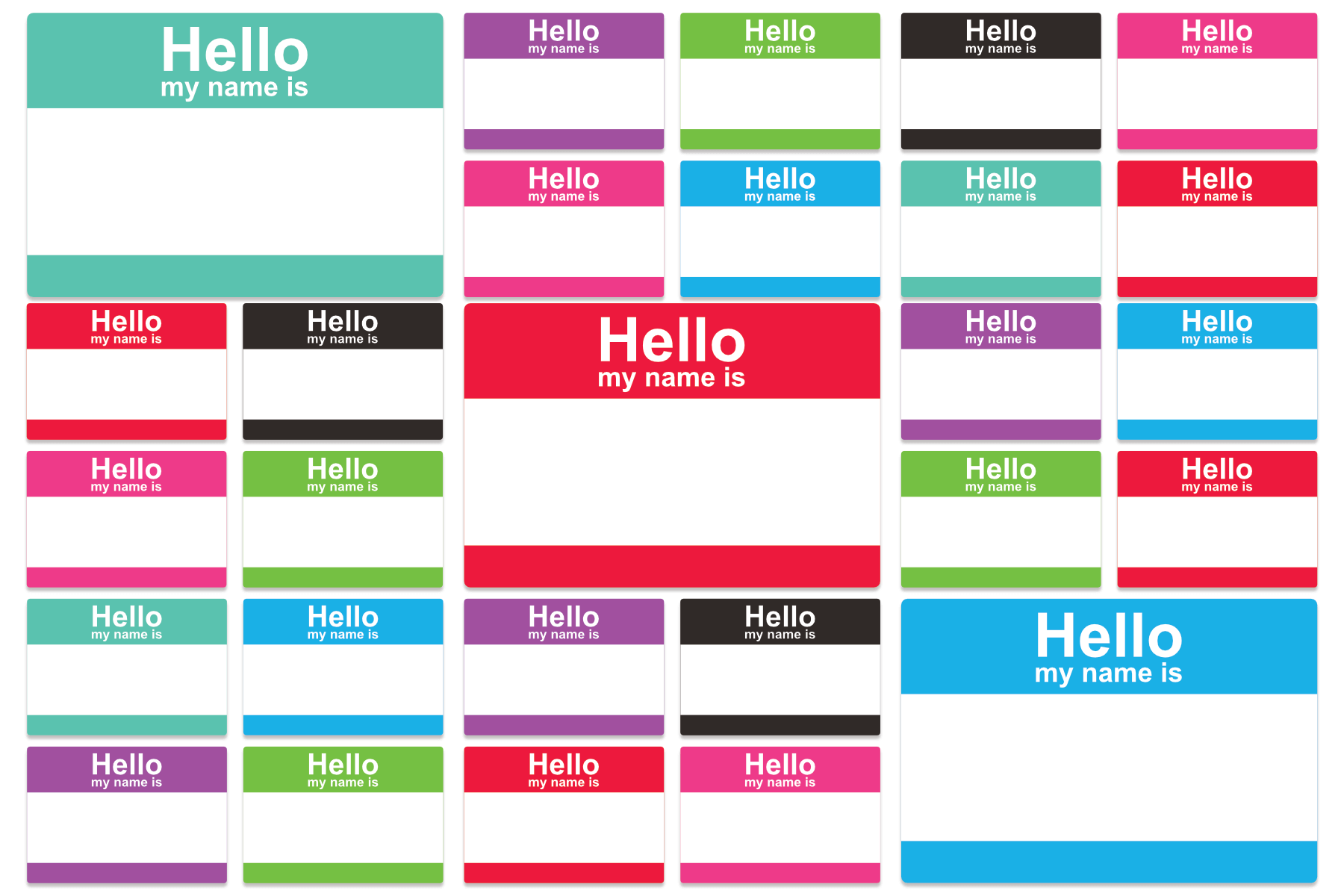 avery compatible labels hello my name is