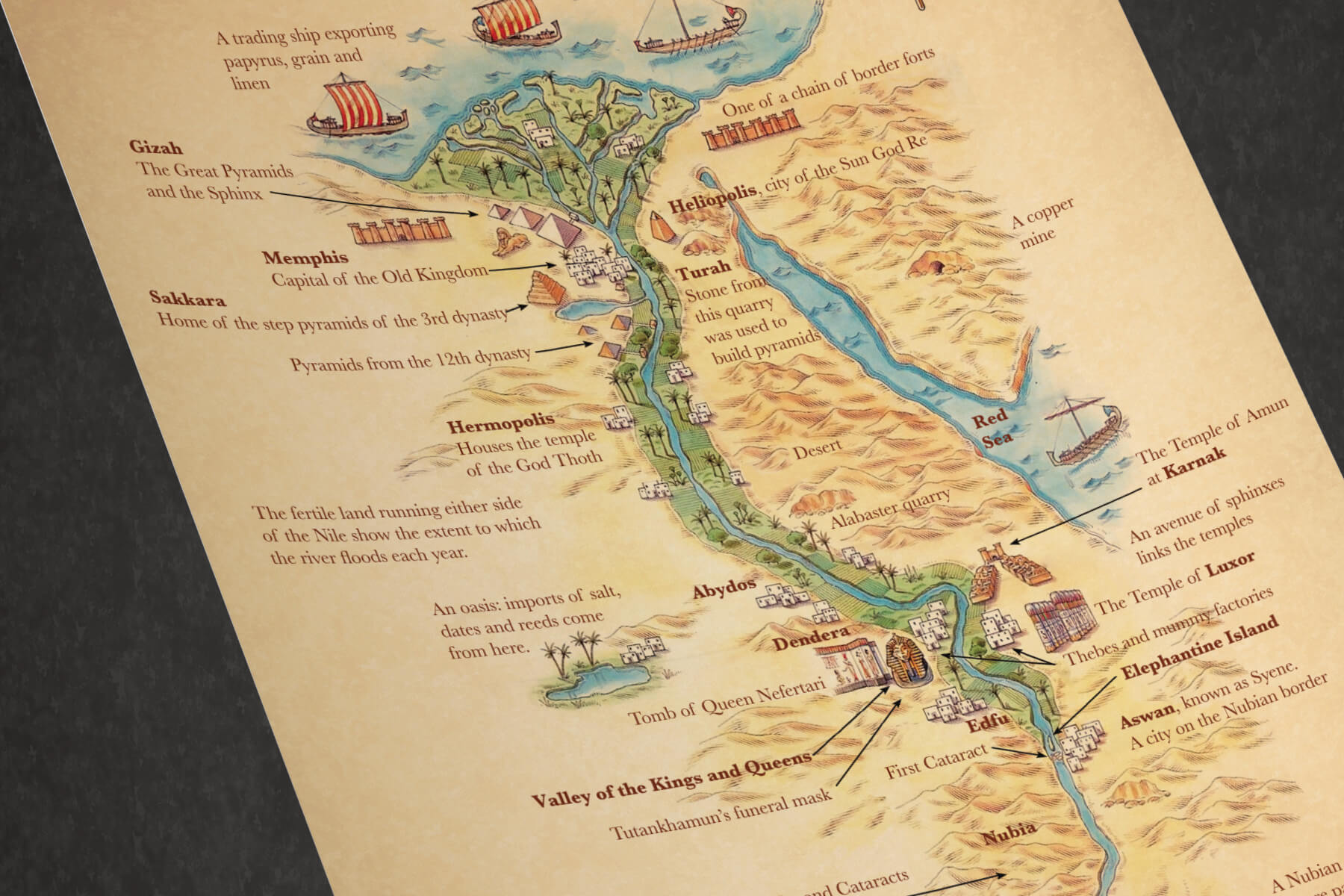 graphic relating to Ancient Egypt Map Printable named Maps of Egypt - PAPERZIP