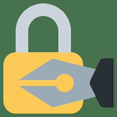 padlock-pen-nib