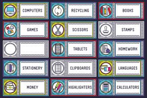 free classroom labels printable schools