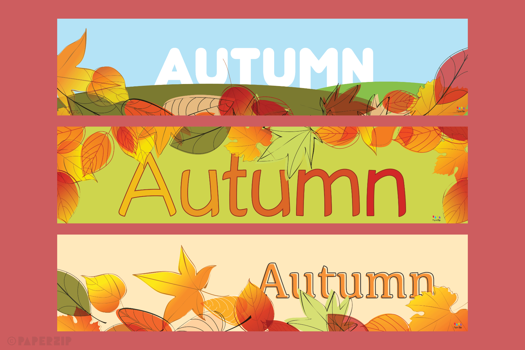 free classroom banners for autumn