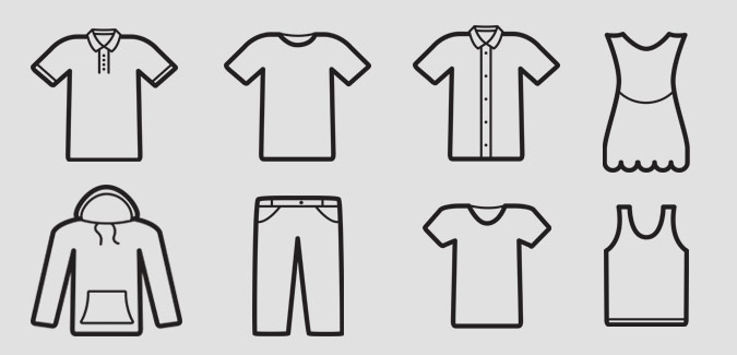 blank clothes templates paperzip
