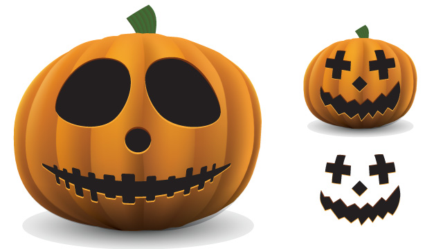 printable pumpkin template with eyes and mouths