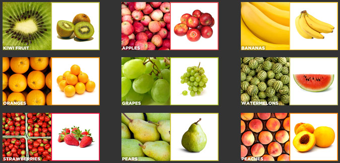 pictures of fruit with names classroom printable