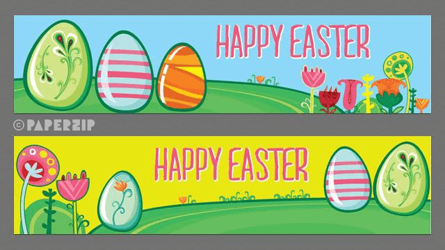 happy easter banners classroom display