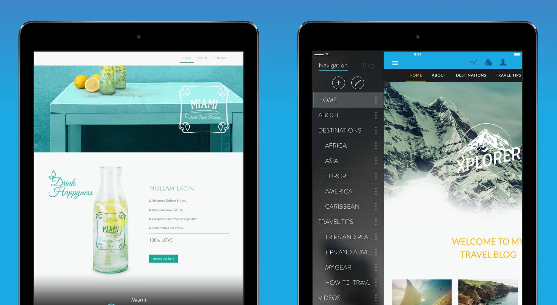 build website app ipad