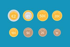eu coins print play money schools