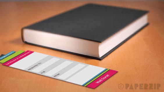 reward bookmarks for children