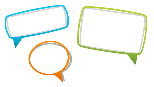 colourful speech bubbles for classroom displays