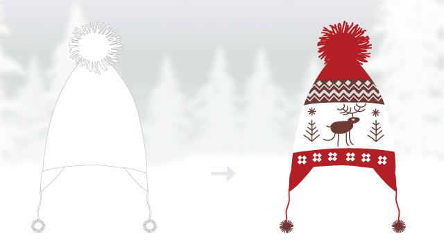 wool hat templates