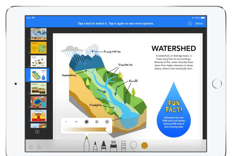 apple keynote presentation app for ipad