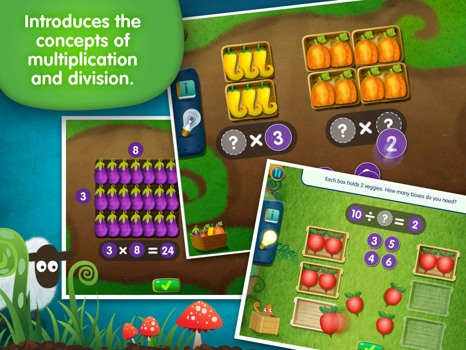 lumio farm factor is a multiplication and division app