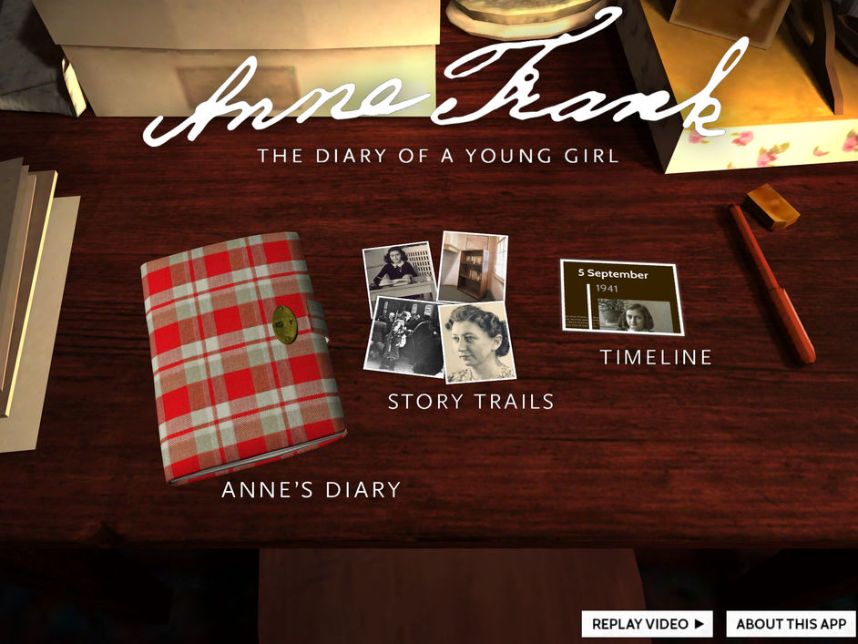 anne frank diary interactive app for ipad