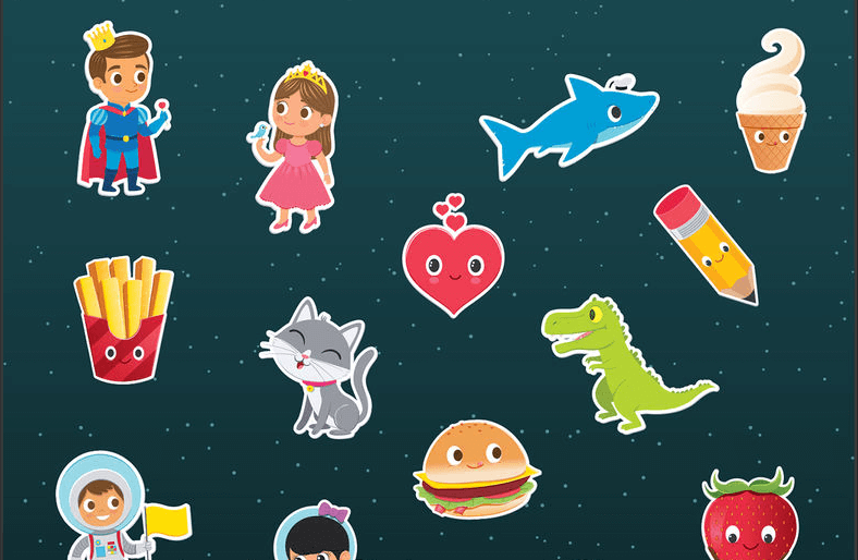 kids sticker app for photos