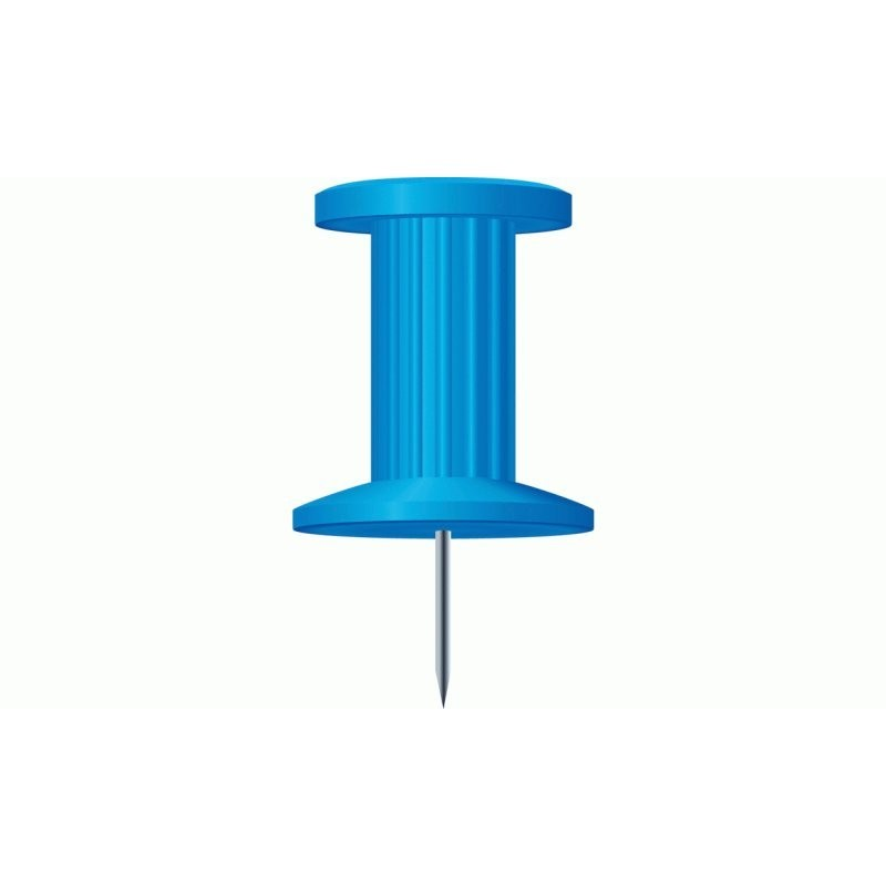 Boite De 25 Pingles Push Pins Coloris Bleu Exacompta