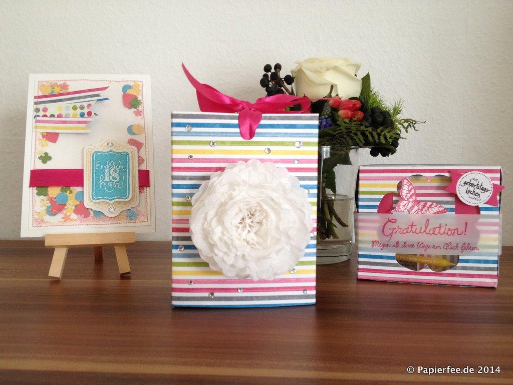 Geburtstagskuchenbausatz   Papierfee – Zauberhaftes aus Papier