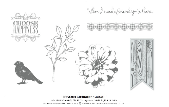 "Stampin'Up! Stempelset ""Choose Happines"""