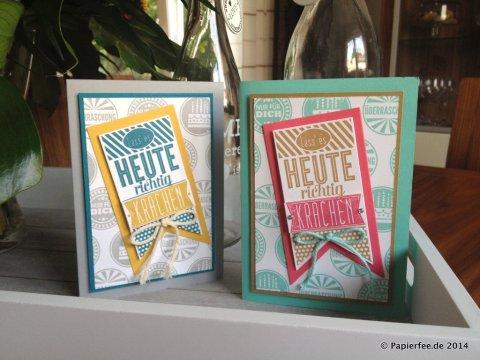 Geburtstagskracher, Männerkarte zum Geburtstag, Wimpel, Schiefergrau, Jade, Kandiszucker, Honiggelb, Stampin Up!