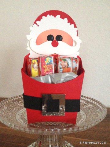 """Stampin'Up! Weihnachten, Goodies, Framelits """"Willkommen, Weihnacht!"""", Bigz L Pommes-frites-Schachtel, Weihnachtsmarkt-Idee, Gastgeschenk"""