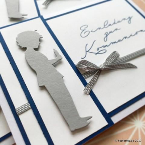 Einladung zur Kommunion, Karten selber basteln, DIY Einladungskarten