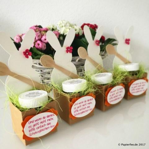 Stampin'Up! Ostern, Osterideen, Ostermark, Marktideen, Mini Nutellaglas, Geschenkidee zu Ostern