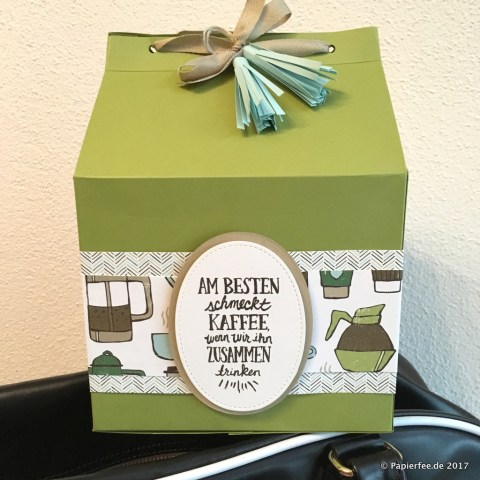Stampin'Up!, große Verpackungen, Designerpapier Kaffeepause, Stempelset Kaffee olé