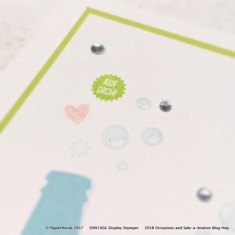 "Stampin'Up! Karte zum Geburtstag, Frühjahrskatalog 2018, Occasion Catalog 2018, Stempelset ""Auf dich"", Designerpapier, Sale-a-Bration 2018"