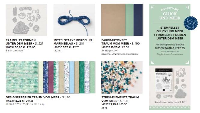 Stampin'Up! Traum vom Meer, Designerpapier, Geschenktüte, Grußkarte