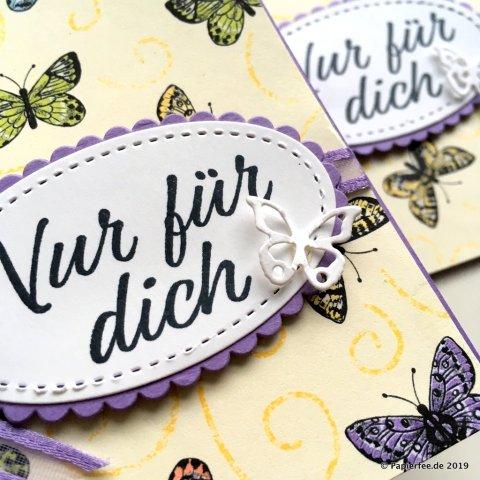 """Stampin'Up! Frühjahr-/Sommerkatalog 2019, Thinlitsformen """"Schöne Schmetterlinge"""", Designerpapier """"Schmetterlingsvielfalt"""", SAB 2019, Sale-a-Bration 2019"""