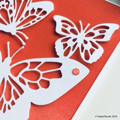 Stampin'Up! Karten selber basteln, Schmetterlinge, Voller Schönheit, Karte mit Farbverlauf, Frühjahrskatalog 2019, Sale-a-Bration 2019