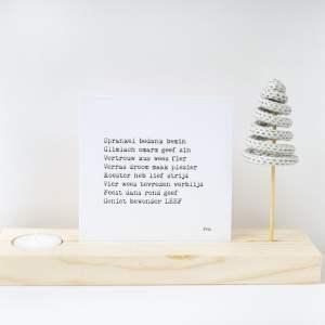 Plankplezier Kerst Punnikboom Kaarsje