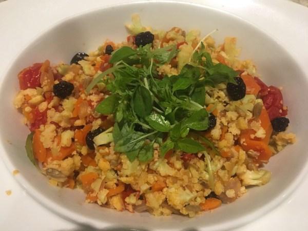 arroz de couve flor com legumes